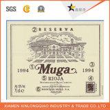 Autoadesivo personalizzato della bottiglia di vetro del vino rosso di stampa dell'etichetta adesiva di figura