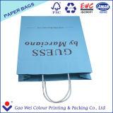 Напечатанные белые хозяйственные сумки бумажных мешков Kraft с ручкой