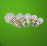 Luz de bulbo de oro de aluminio de fundición a presión a troquel del LED 9W