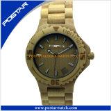 Venta al por mayor de madera del reloj de la fábrica del reloj del reloj popular