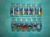 botella del corcho 7ml y frasco del vidrio