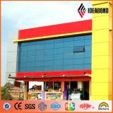 Pannello di rivestimento arancione esterno della pittura della fabbrica 4ftx8ft PVDF di Ideabond