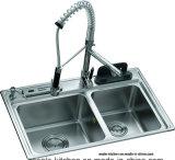 ラッカー食器棚(透明な湖水)