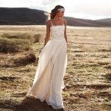Шифоновое платье венчания пляжа шнурка (SA001)