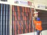機械か具体的な屋根瓦の生産をするハイテクなカラータイル