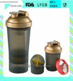 بلاستيكيّة بروتين رجّاجة زجاجة مع تخزين وعنكبوت نابض