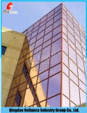 Vidrio reflexivo de oro del vidrio/edificio del vidrio/luz reflexiva clara con ISO9001