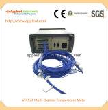 즉시 읽으십시오 온도계 전시 24 채널 통신로 온도 (AT4524)를