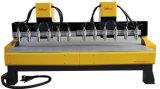 3025 12 Spindeln CNC-hölzerne schnitzende Maschine
