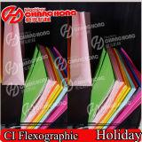 Machine d'impression flexographique de 6 tissus de papier remplaçables de couleur