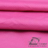 água de 50d 270t & do Sportswear tela 100% pontilhada diamante tecida do poliéster do filamento do jacquard para baixo revestimento ao ar livre Vento-Resistente (53126)
