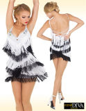 La pratique en matière latine de vêtement de danse de paragraphe sexy a frangé la jupe, personnalisée