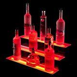 Carrinho de indicador acrílico do PNF, suporte à moda do vinho