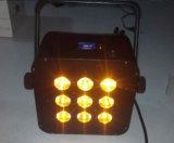 Rgbaw 1つの紫外線平らなDMX LEDの同価に付き凹面の平らなハウジング6つ