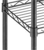 Estante negro revestido de epoxy ajustable del almacenaje de archivo de la oficina del metal