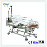 Hospital eléctrica cama con tres cama giratoria Cuidado Bielas
