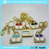 Laufwerk der Schlüsselring-Dame-Handbag Design Jewelry USB Flash (ZYF1900)