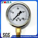 Öl - gefüllte hydrostatischer Druck-Anzeigeinstrumente mit SS-Kasten-Messing-Verbinder