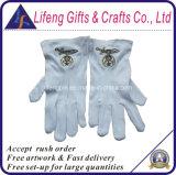 Gants maçonniques de taille de coutume de gants libres de broderie