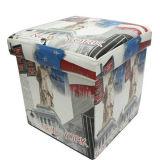 Хобот и табуретка хранения кожи PU New York складывая