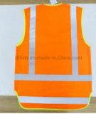 Безопасности куртка Hi-Viz с короткое передним и длиной задне