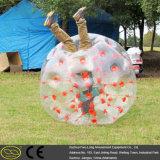 Bola de parachoques inflable del prado material del PVC de TPU