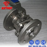 нержавеющая сталь 2PC служила фланцем шариковый клапан DIN F4 концов