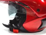 نقطة نصفيّة وجه درّاجة ناريّة خوذة مع حافة زجّاجية مزدوجة ([أب205])