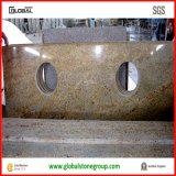 Partes superiores naturais da vaidade do banheiro do granito do ouro de Kashmir para o hotel