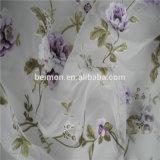 Flor impresso e queima tecido de organza de tule