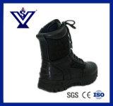 黒い本革の戦術的な砂漠ブートの軍隊のブート(SYSG-251)