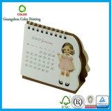 Calendario de encargo de la alta calidad con la impresión de la insignia