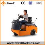 Heißes Verkaufs-Cer-neuer 4 Tonnen-elektrischer Schleppen-Traktor, der auf Typen sitzt