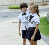 良質の不足分の袖の生徒の学生服のスーツの夏の摩耗