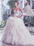 Платье венчания мантии шарика 0005 перл Sequins шикарного глянцеватого шарика кристаллический