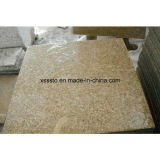 Tuiles jaunes en pierre bon marché de granit pour le plancher et le mur