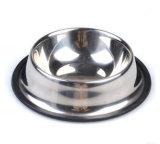 Kom van de Hondevoer van het Roestvrij staal niet van de Morserij van de Lage Prijs van het Embleem van de Douane van de opslag de In het groot Non-Skid