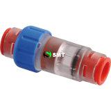 Connecteurs 100% testés à l'eau et à fibre optique à micro-conduits