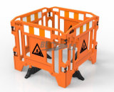 PlastikRoad Safety Gate Work Barrier mit Legs