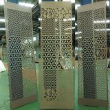 feuille en aluminium perforée épaisse de 3mm et panneau de mur décoratif