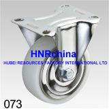 Weißer industrieller Nylonschwenker mit doppelter Bremsen-Fußrolle
