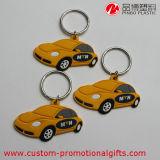 Catena chiave del PVC del regalo del fumetto dell'automobile di disegno promozionale del reticolo