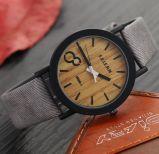 Yxl-859 석영 시계 시뮬레이션 나무로 되는 손목 시계 여자 시계 우연한 나무로 되는 색깔 가죽끈 Montre Femme Relogio Feminino