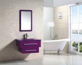 Cabinet reflété par salle de bains moderne colorée de PVC Purpe de cadeau de Noël (9036-5)