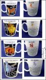 Dodici tazze di ceramica dei segni cinesi dello zodiaco impostate per il commercio all'ingrosso