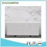 Plancher artificiel blanc de pierre de quartz de Calacatta