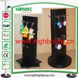 Support d'affichage rotatif acrylique de supermarché pour oreiller gonflable