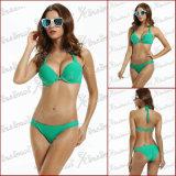 Parte superiore di bikini verde di Strapy di estate