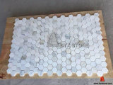 Italienisches Bianco Calacatta Stone Marble Mosaic für Wall und Floor