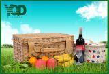 Cestino di vimini di picnic di colore naturale caldo di vendita